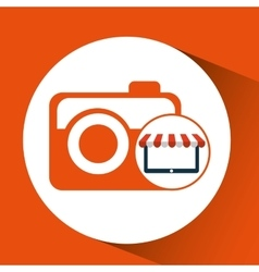 Online shop camera photographic design icon vector