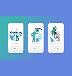 Ophthalmologist doctor test eyesight mobile app vector