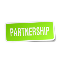 Partnership square sticker on white vector