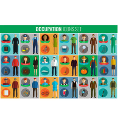 People of different occupations professions icons vector