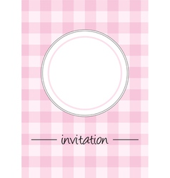Pink vintage card menu or invitation vector