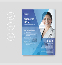 Professional corporate business flyer template vector