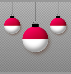 Realistic indonesia flag with flying light vector