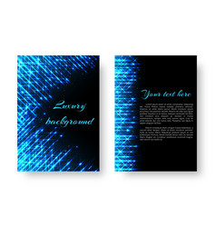 rectangular cover with neon light vector image