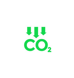 Reduce carbon emissions icon vector
