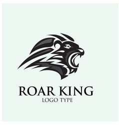 Roar lion logo designs vector