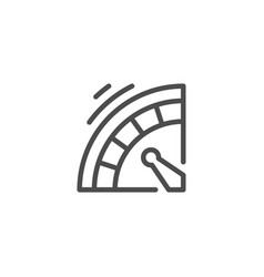 roulette line icon vector image