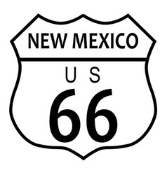 Route 66 new mexico vector