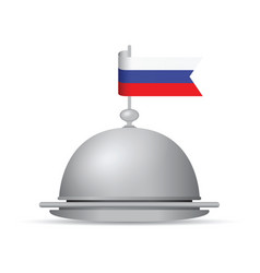 Russian flag dinner platter vector