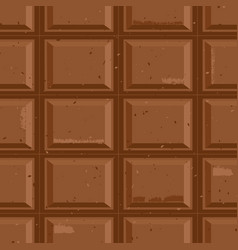 seamless chocolate bar texture pattern background vector image