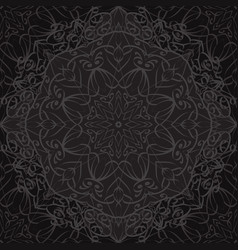 seamless texture with black carved pattern vector image