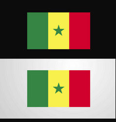 Senegal flag banner design vector