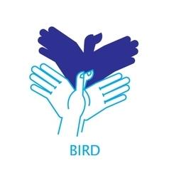 Shadow Hand Puppet Bird vector