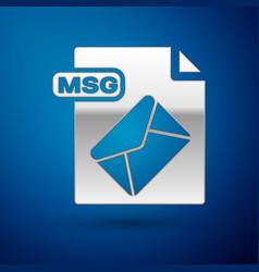 Silver msg file document download msg button icon vector