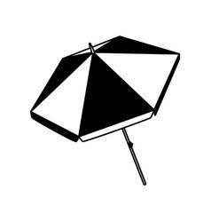 Summer beach umbrella isolated icon vector