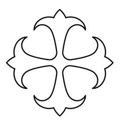 symbol field lily kreen strong cross monogram vector image