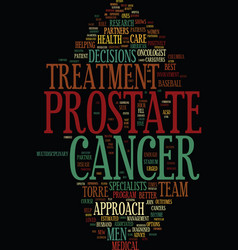 Team approach urged in prostate cancer treatment vector