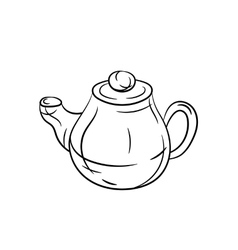 Teapot hand draw vector image