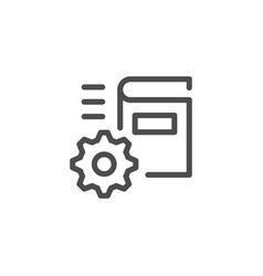 Technical documentation line icon vector