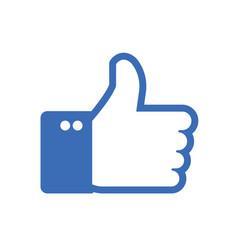 thumb up like icon vector image