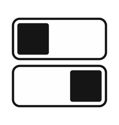 Toggle switch on off position icon simple style vector image