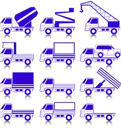 transportation symbols vector image