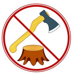 Tree felling forbid symbol vector
