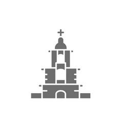 Ukrainian orthodox church sanctuary gray vector