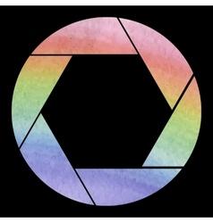 Watercolor photo icon vector