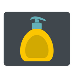 Yellow liquid soap bottle icon isolated vector