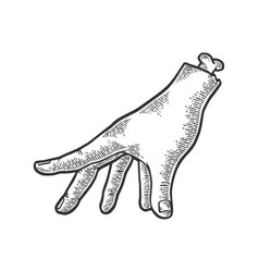 Zombie hand sketch engraving vector