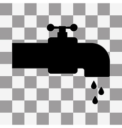 Faucet Icon on transparent background vector image