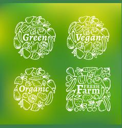 organic label set vector image