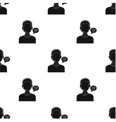translator icon in black style isolated on white vector image vector image