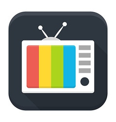 Tv show flat app icon with long shadow vector