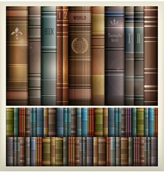 Book stack background vector image vector image