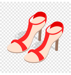 pair of high heel red female shoes isometric icon vector image