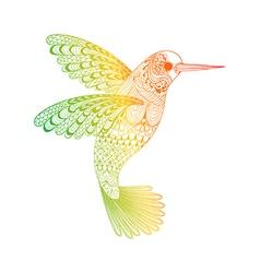 Zentangle stylized Hummingbird Hand Drawn isolated vector image vector image