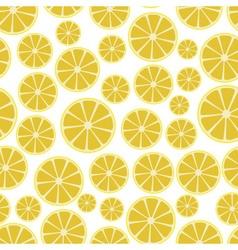 colorful sliced lemon fruits seamless white vector image vector image