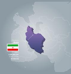 iran information map vector image