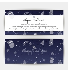 Set of Happy New Year banners vector image