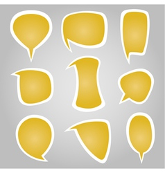Yellow Color Calligraphic Speech Bubbles vector image vector image
