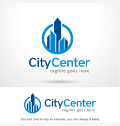 city center logo template design vector image vector image