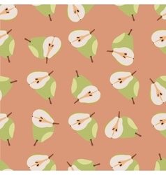 Green pears seamless pattern vector image