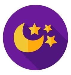 Moon with Stars Circle Icon vector image vector image