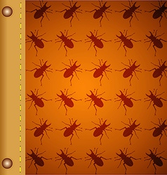 Pattern with beetles vector image vector image