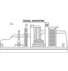 texas houston architecture line skyline vector image vector image