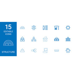 15 structure icons vector
