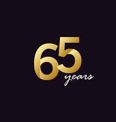 65 years anniversary celebration gradient vector