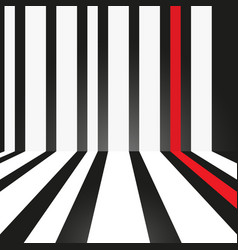 Abstract strip white and red on black background vector